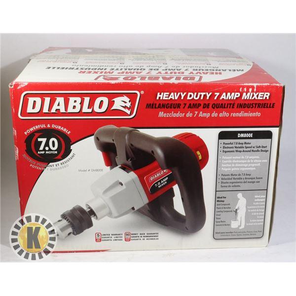 DIABLO HEAVY DUTY 7AMP MIXER- MODEL DM800E