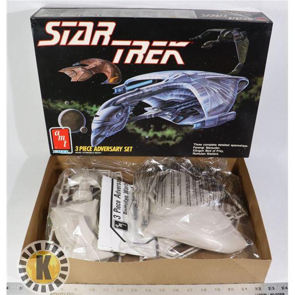 STAR TREK 3 PIECE ADVERSARY SET, SEALED IN BAGS