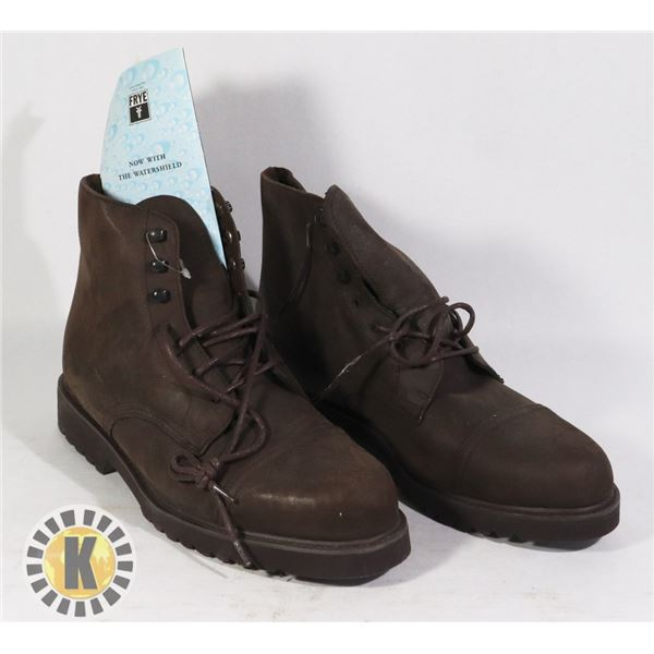 """NEW MEN'S FRYE """"WATERSHIELD"""" SHOES SIZE 10M BROW"""