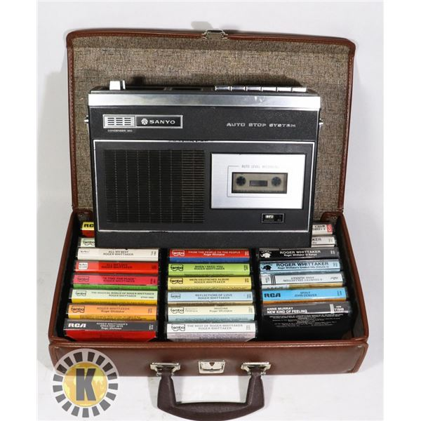 SANYO PORTABLE CASSETTE PLAYER/RECORDER BATTERY/