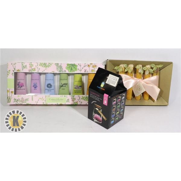 CRABTREE & EVELYN HAND THERAPY,WISH FLOWER, SALTS