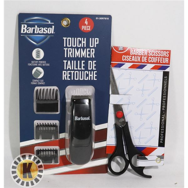 NEW BARBA SOL TOUCH UP TRIMMER AND SCISSORS