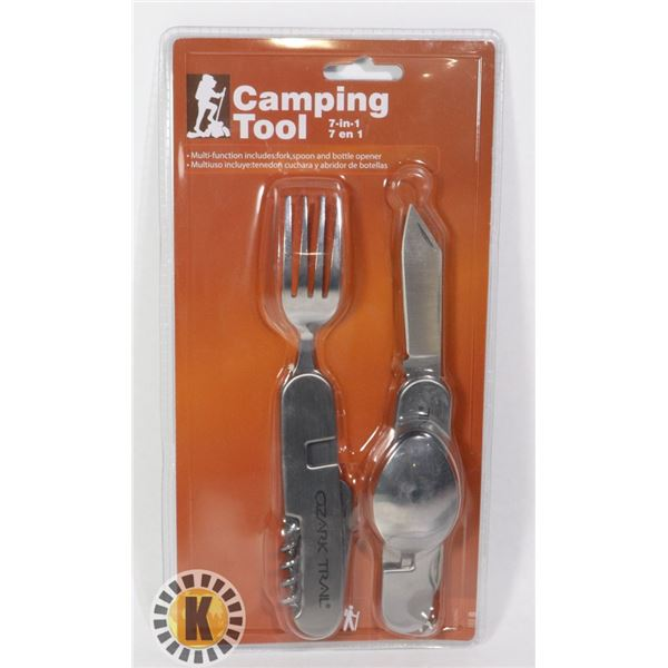 NEW OZARK TRAIL 7 IN 1 CAMPING TOOL SET