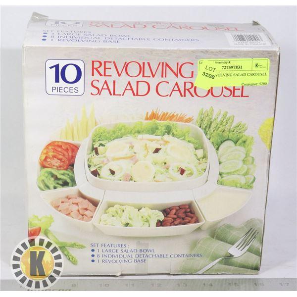 10 PC REVOLVING SALAD CAROUSEL