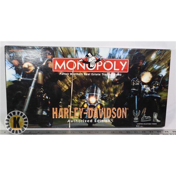 HARLEY -DAVIDSON AUTHORIZED EDITION MONOPOLY