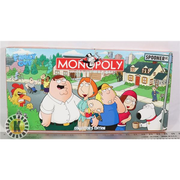 FAMILY GUY COLLECTORS EDITION MONOPOLY