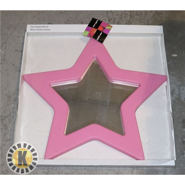 PINK STAR SHAPED MIRROR