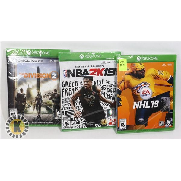 THREE NEW XBOX ONE GAMES