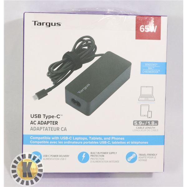 TARGUS 65W USB TYPE-C AC ADAPTER