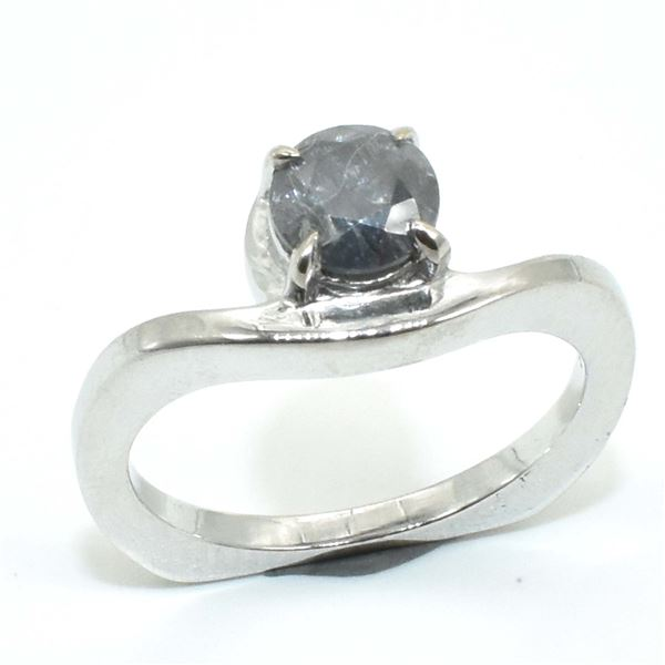 SILVER CERTIFIED MOISSANITE ( ROUND 5.50 MM)(0.8CT