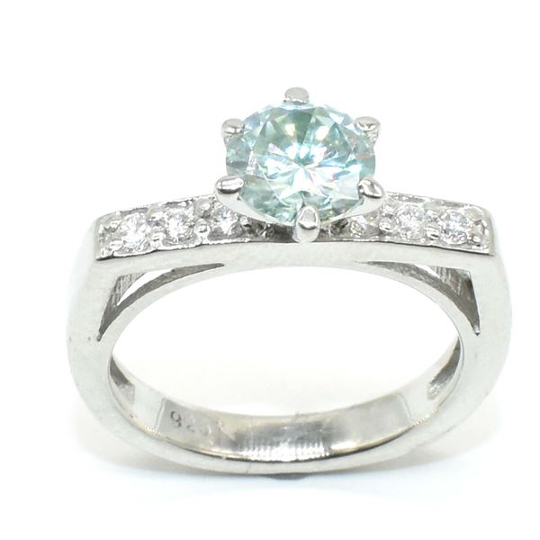 SILVER CERTIFIED MOISSANITE (ROUND 6.5 & 1.5 MM)(1