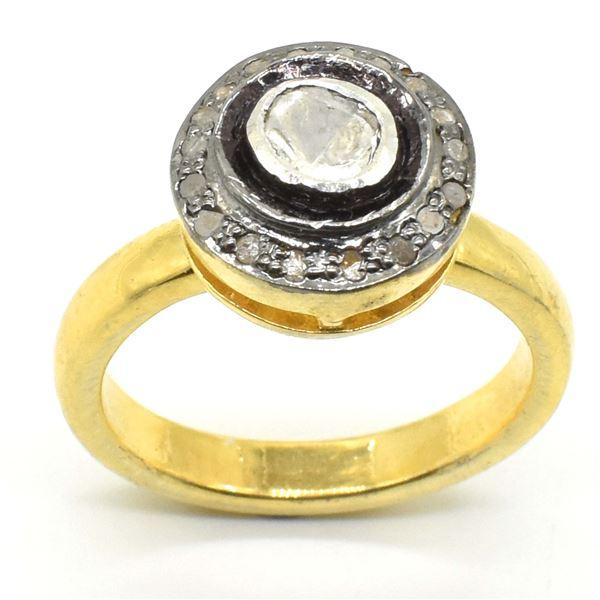 SILVER RODE CUT DIAMOND(0.9CT) GOLD BLACK RHODIUM