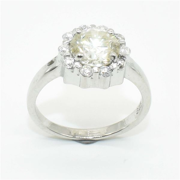 SILVER CERTIFIED MOISSANITE (ROUND 7 & 2 MM)