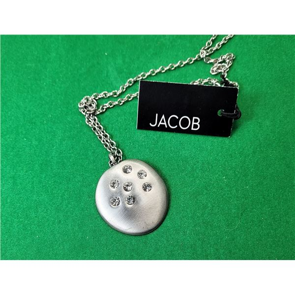 14)  NEW WITH TAG MATTE SILVER TONE WITH