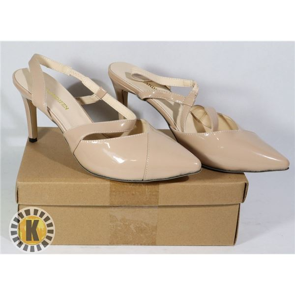 TIP TOE NUDE SUEDE WOMEN SHOES SIZE 39