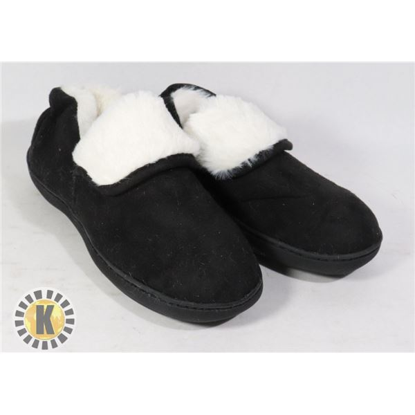 SLIPPERS COMFORTABLE BLACK SIZE 5-6 US