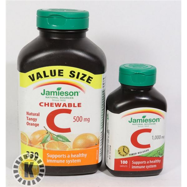 JAMIESON VITAMINS C VALUE SIZE AND REGULAR SIZE