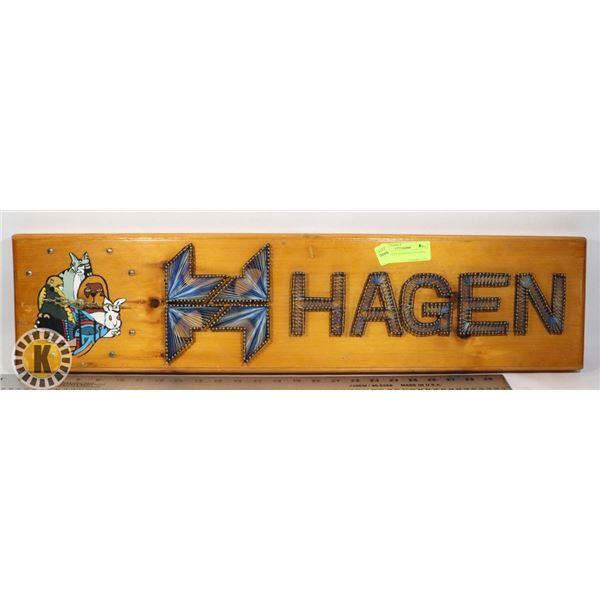 DECORATIVE HAGEN WALL CLOCK