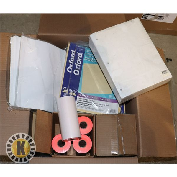 BOX OF ASSORTED OFFICE SUPPLIES