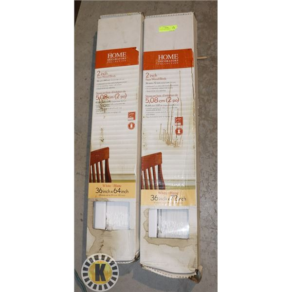 """LOT OF 2 36""""X72"""" BLINDS"""