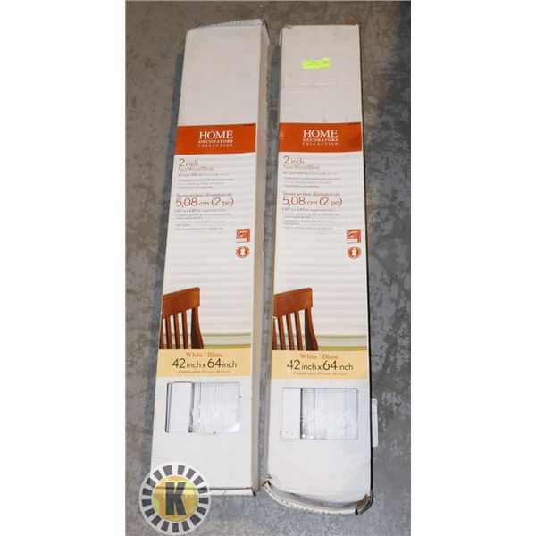 """LOT OF 2 43""""X64"""" BLINDS"""