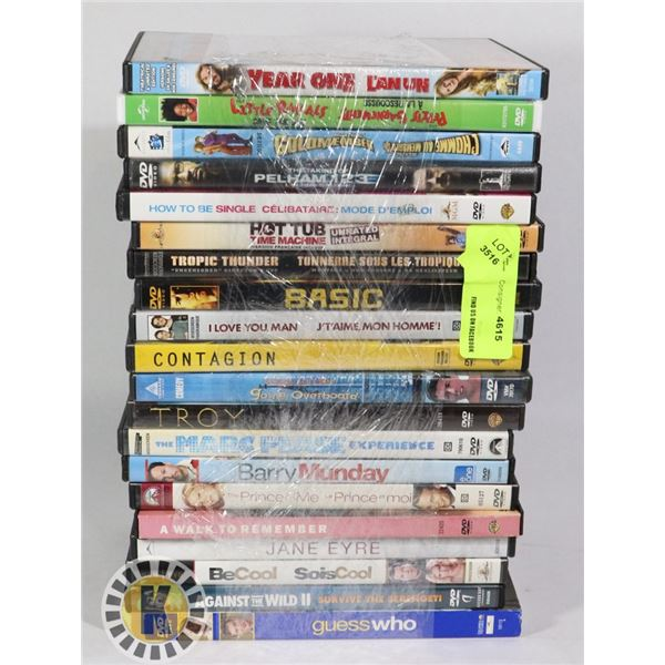BUNDLE OF 20 ASSORTED DVD MOVIES