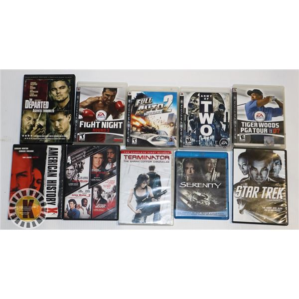 ESTATE BOX OF MOVIES AND PS3 GAMES