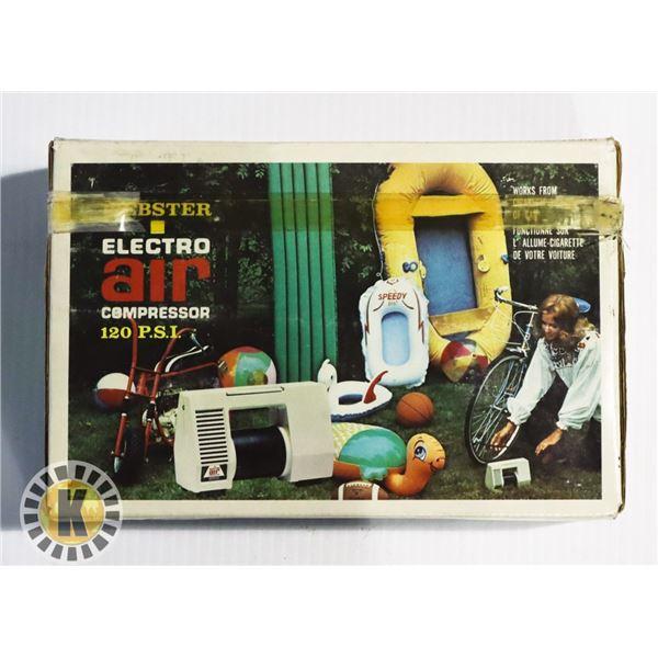 WEBSTER ELECTRO AIR COMPRESSOR - 120 PSI