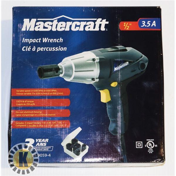 """MASTERCRAFT IMPACT WRENCH- 3.5AMP, 1/2"""""""