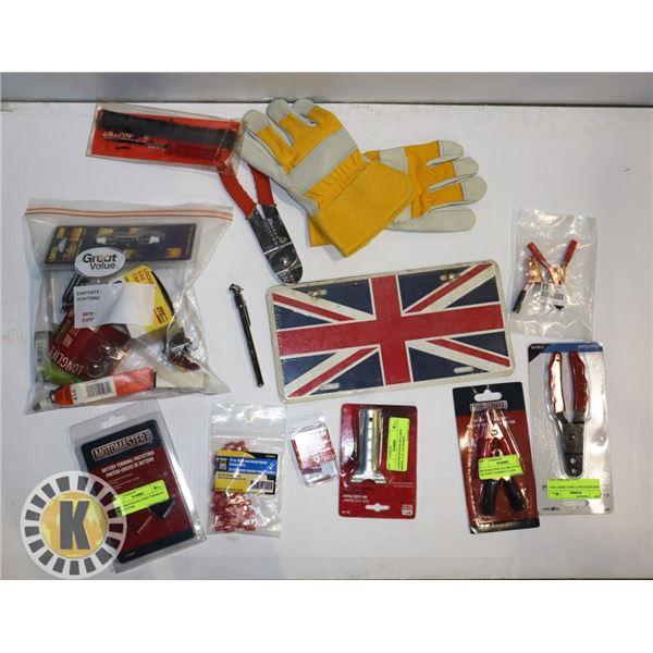 ESTATE BOX OF AUTO ACCESSORIES AND TOOLS
