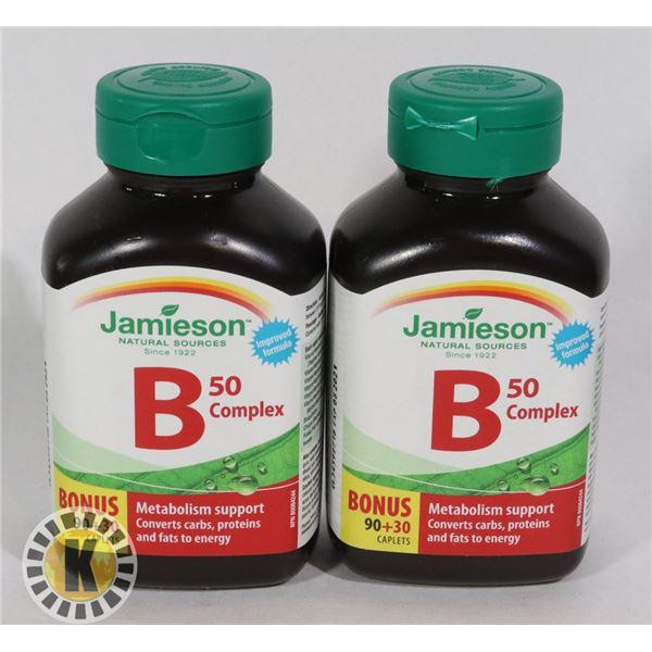 TWO BOTTLES OF JAMIESON B50 COMPLEX CAPLETS