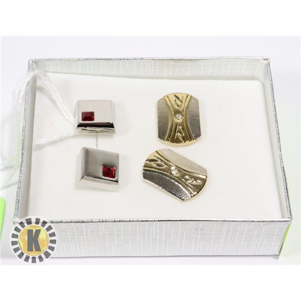 CUFF LINKS. SET OF TWO. (31)