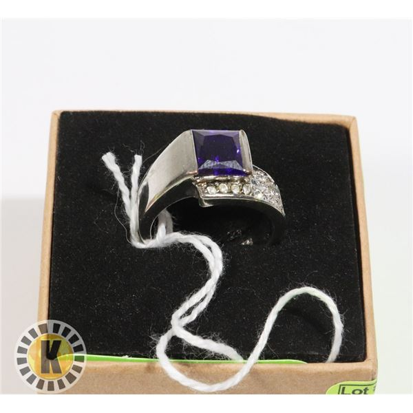 SILVER AND AMETHYST RING (19)