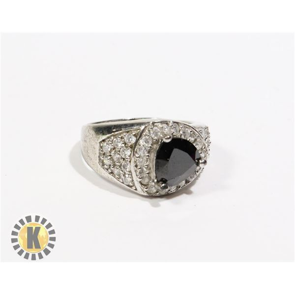925-150 SILVER .925 SMALL CRYSTALS ON BAND &