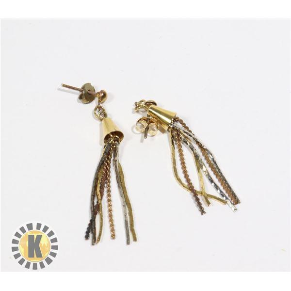 955-116 GOLD TASSLE EARRINGS EARRINGS