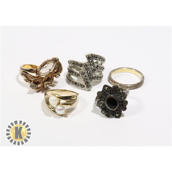 925-156 LOT OF ASSORTED FASHION RINGS