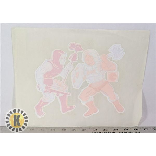 VINTAGE HE-MAN AND SKELETOR IRON ON PATTERN
