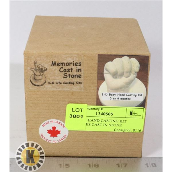 3D BABY HAND CASTING KIT MEMORIES CAST IN STONE