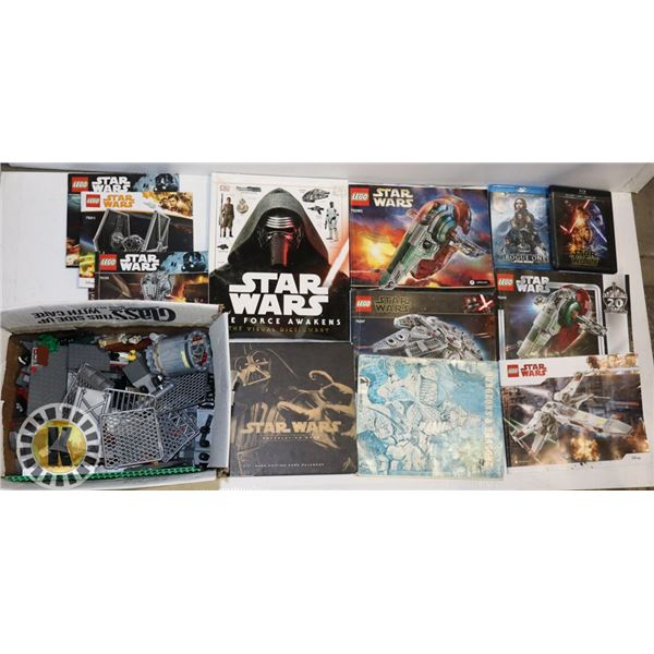 BOX OF STAR WARS LEGO (ASSORTED LEGO) AND STAR