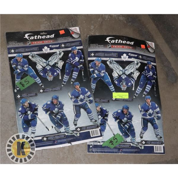 2 PACKS OF NHL STICKERS