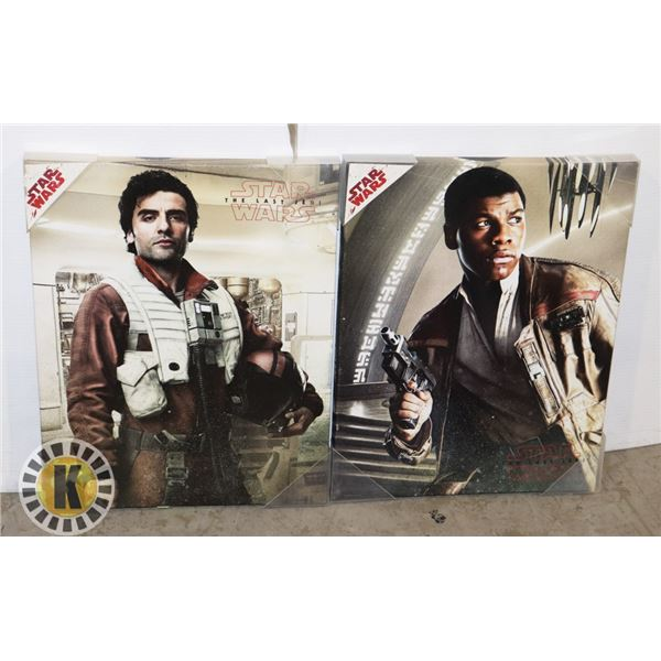 2 STAR WARS STRETCH CANVAS PICTURES
