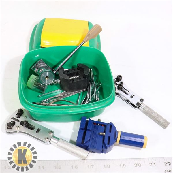 WATCH REPAIR KIT AND CASE