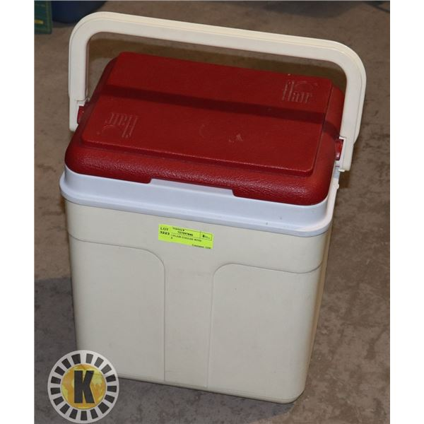 RED LID FLAIR COOLER WITH HANDLE