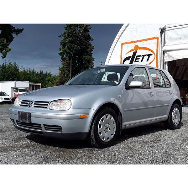 B3 --  2007 VW CITY GOLF , Silver , 211071  KM's