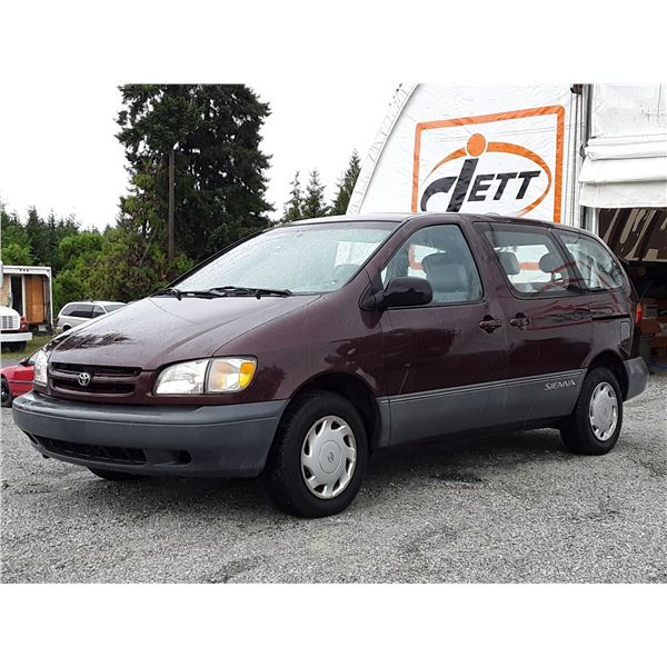 C3 --  1999 TOYOTA SIENNA CE, RED, 251,626 KMS