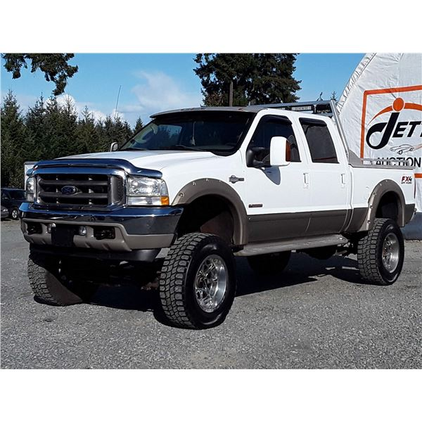 H3 --  2003 FORD F350 LARIAT KING RANCH 4X4 S.D. , White , 238350  KM's