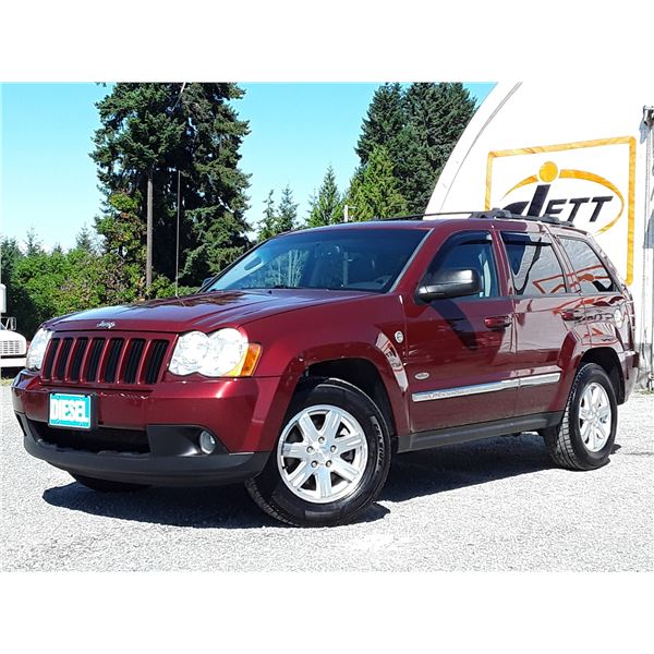 E6 --  2008 JEEP GRAND CHEROKEE LAREDO TRAIL RATED DIESEL , Red , 245485  KM's