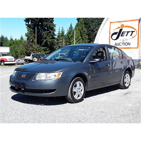 """A12H --  2006 SATURN ION LEVEL 2 , Silver , 223949  KM's  """"NO RESERVE"""""""