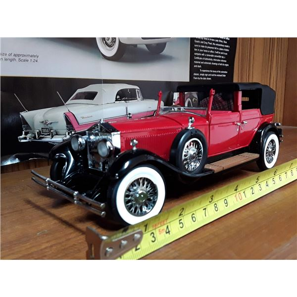 Franklin Mint Precision Models 1929 Rools Royce Phantomi Cabriolet Deville Die Cast