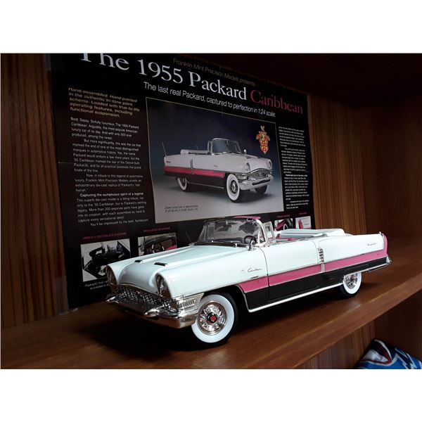 """""""Signature"""" 1/18 Die Cast 1955 Packard Carribean With Poster"""